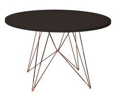 Table XZ3; Ronde - Ø 120 cm Noir ; Piètement cuivre - Magis - Décoration et mobilier design avec Made in Design