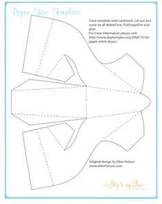 pattern for paper shoes