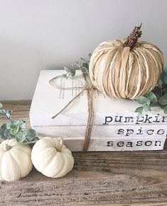 Fall Decor for your home! Love this! Fall Decor for your home! Love this! Always wanted to learn how to knit, however uncertain where do you start? Fall Home Decor, Autumn Home, Rustic Fall Decor, Old Book Crafts, Painted Books, Autumn Inspiration, Happy Fall, Fall Crafts, Fall Halloween