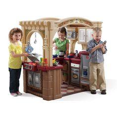 Toddler U0026 Little Childrenu0027s Outdoor Plastic Playhouse With Indoor/Outdoor Kitchen  Inside!