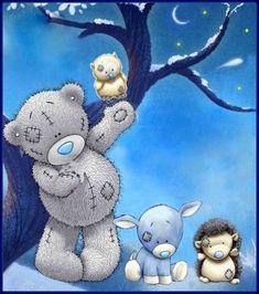 Teddy Bear Tattoos, Teddy Bear Quotes, Teddy Bear Images, Teddy Bear Pictures, Tatty Teddy, Calin Gif, Kids Room Murals, Owl Bags, Blue Nose Friends