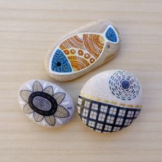 painted stones, airbrush ink, archival black ink marker, for KIKKULA, Bodrum