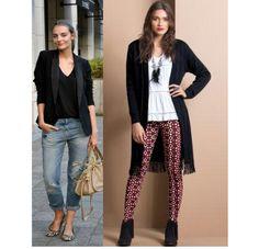 #Blazers e jaquetas além de produzir elegância, disfarçam a cintura! Use vestidos e blusas com tecidos estruturados, com cardigã aberto por cima da roupa!