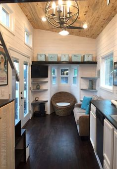 Tour the beautiful Emerald City Tiny Home with us
