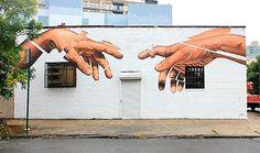 Arte urbano y muralismo realista de James Bullough