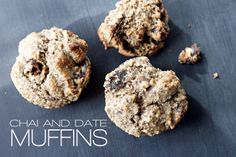 Chia and date muffins