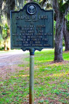 Chapel of Ease, St. Helena Island, South Carolina ~ Land's End Road Saint Helena Island, St Helena, Fripp Island Sc, Watermelon Festival, British Overseas Territories, Roadside Attractions, Historical Society, Oh The Places You'll Go, Palmetto Moon