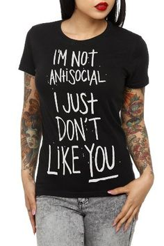 Antisocial Girls T-Shirt Hot Topic,