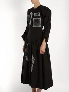 J.W.Anderson Heart and square-appliqué dress