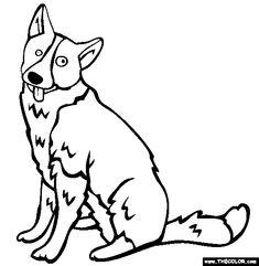 karelian bear dog coloring page free karelian bear dog online coloring