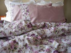 Floral Duvet cover-Pink green purple lavender lilac by nurdanceyiz
