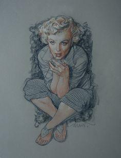 Drew Struzan - Marilyn Blue