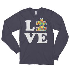 Love Autism - Autism Awareness Long sleeve t-shirt (unisex)