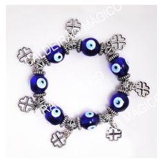PULSEIRA OLHO TURCO TREVOS Pandora Charms, Charmed, Bracelets, Jewelry, Clovers, Eyes, Charms, Jewlery, Bijoux