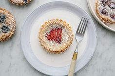 Berry and Frangipane Tartlets, a recipe on Food52