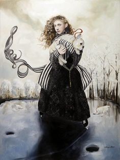 Down the Rabbit Hole: Paintings by Margo Selski | Faith is Torment | Art and Design Blog