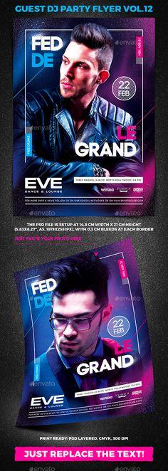 Guest DJ Party Flyer vol.12 - Clubs & Parties Events