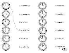 time worksheet german