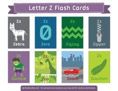 Letter Z Flash Cards