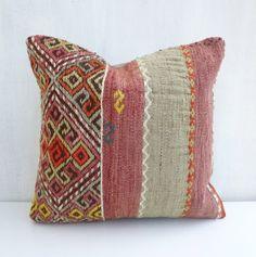 Decorative Kilim Cicim Throw Pillow