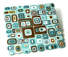 Is this not an amazing fused glass piece by Kimbrill?! love the colors