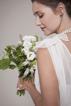 1920's Inspired Wedding Dress:  V-neck Chiffon Top (not entire dress).