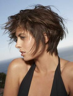 Stay stylish with Godfather style inspirations. Godfather style presents 25 Trending Short layered haircuts ideas that you should try. Short layered haircuts can be done on any kind of hair … Short Textured Haircuts, Short Messy Haircuts, Pixie Haircuts, Textured Hairstyles, Messy Bob, Haircut Short, Messy Pixie, Haircut Layers, Summer Haircuts
