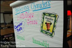 Analyzing characters' personality and physical traits to see how they change throughout a text! A great mentor text is Boundless Grace! Lots of lesson ideas and anchor charts!- Young Teacher Love Blog
