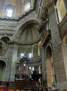 Detail inside the Basilica of San Lorenzo in Milan (Italy)