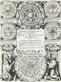 """Un gran compendio de imágenes herméticas que Johann Daniel Mylius publicó en 1618 bajo el título de """"Obra médica-química"""" y que más tarde se ha conocido popularmente como los """"Sellos de los Filósofos"""". Presentación de…"""