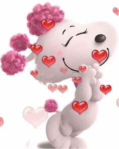 The perfect Snoopy Love Animated GIF for your conversation. Love Heart Gif, Love You Gif, Cute Love Gif, Snoopy Love, Gif Pictures, Love Pictures, Calin Gif, Bisous Gif, Animated Emoticons