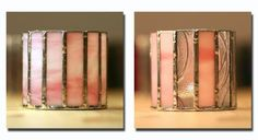 ZN Stained Glass - Pink candleholders