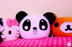 DIY cojín almohada oso panda - Patrones gratis