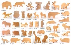 ANY 9 animals  Organic wooden toy  Wooden toy animals