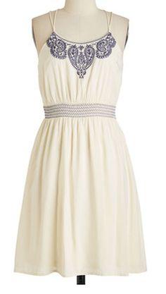 Lovely white summer dress