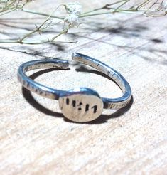 11:11 lucky wish ring // 925 silver ring // stacking ring //