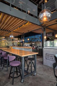 Kovac restaurant, Zrenjanin, Serbia, designed by Restaurant Pictures, Restaurant Design, Restaurant Ideas, Wood Steel, Interior Design, Studio, Gallery, Table, Furniture