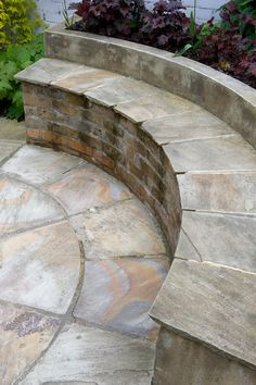 Flooring in the space will be on the form of an Indian sandstone circle measuring 3.6m in diameter. Asection of the outer ring will be elevated to form the a seat fronting a raised planting bed in the bottom left of the space. The existing walls will be rendered and painted and the fence panel mended. #circle #sandstone #courtyard