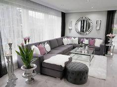 20 Dazzling Purple Living Room Designs - Alexa Home Decor Home Living Room, Room Design, Elegant Living Room Design, Purple Living Room, New Living Room, Apartment Decor, Living Room Grey, Mauve Living Room, Living Decor