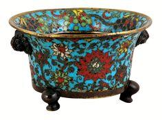 Censer decorated with cloisonne enamel by Anonymous from China, 1449-1457, Muzeum Sztuk Użytkowych w Poznaniu