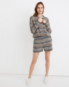 Women's Shorts: Clothing | Madewell Sweater And Shorts, Sweater Coats, Women's Shorts, Cardigans For Women, Women's Cardigans, Cardigan Design, Baby Vest, Cute Sweaters, Madewell