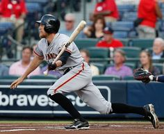 ATLANTA, GA - JUNE 14:  Outfielder Hunter Pence #8 of the San Francisco Giants follows through on a swing during the game against the Atlanta Braves at Turner Field on June 14, 2013 in Atlanta, Georgia.  (Photo by Mike Zarrilli/Getty Images) Photo: Mike Zarrilli, Getty Images