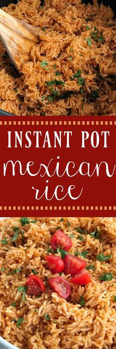 Instant Pot Mexican Rice | Instant Pot Recipes | Recipes in the Instant Pot | Instant Pot Mexican rice is the perfect side dish to any Mexican food! Perfect for burrito bowls, side dish, inside burritos, or on top of nachos! Fluffy and flavorful Mexican rice is made in the Instant Pot with only a few simple ingredients. #instantpot #instantpotrecipes #mexicanrice #mexicanfood #mexicanfoodrecipes