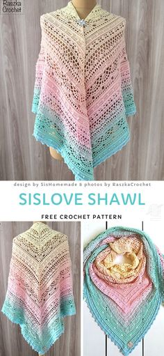 SiSLove Shawl Crochet Pattern - Welcome to our website, We hope you are satisfied with the content we offer. One Skein Crochet, Crochet Shawl Free, Crochet Shawls And Wraps, Crochet Scarves, Lace Knitting, Crochet Clothes, Knitting Patterns, Crochet Patterns, Lace Shawls