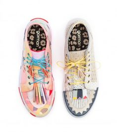 Gorman limited edition shoes by Kate Tucker