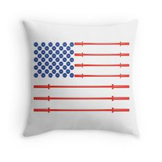 American Muscle - USA Flag Freedom Pillow Are you a patriot or a veteran who is really into fitness and freedom? Show your love for both with the American Muscle Flag Pillow. The American flag is made out of plates and barbells aka weights and plates. Show off your results and get your American muscle power on today! Made in the USA. #patriot #veterans #bodybuilding #pillow #american #flag #usa #freedom #gym #shades #squats #crossfit #fitness #weightlifting #exercise