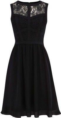 Warehouse Lace Bodice Soft Midi Dress - LoLoBu