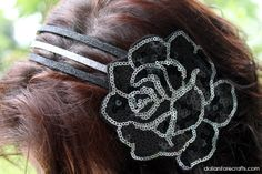 Tutorial: How to Make a Statement Piece Sequin Headband! #headbands