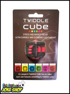 The ultimate stress relief fidget device! The Fidget Twiddle Cube is a six sided device with a fidget on each side! Anxiety Relief, Stress And Anxiety, Stress Relief, Funny Gifts For Her, Six Sides, Cube, Simple, Games, Toys