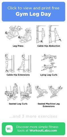 Gym Leg Day · Free workout by WorkoutLabs Fit